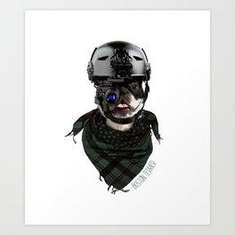 Boston Terrier in Warfare Art Print