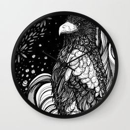 Steller's sea eagle (Haliaeetus pelagicus) Wall Clock