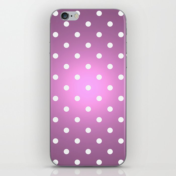 Polka Party Radiant Orchid iPhone Skin