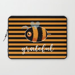 Be (Bee) Grateful Cute Funny Gift Women Men Boys Girls Kids Laptop Sleeve