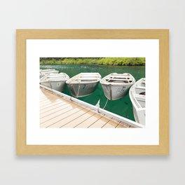 At the Dock Framed Art Print