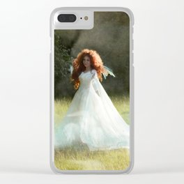 White Fairy Clear iPhone Case