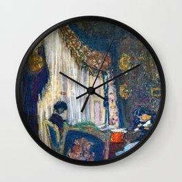 Edouard Vuillard - Mrs. Hessel At Her Window - Digital Remastered Edition Wall Clock