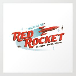 Red Rocket Art Print