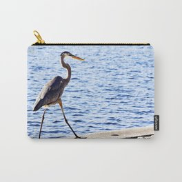Blue Heron Strut Carry-All Pouch