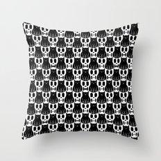 Skulls & Cats Throw Pillow
