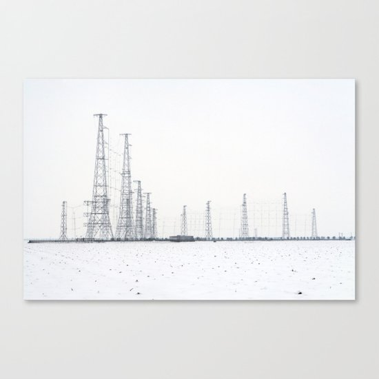 towers and wires Canvas Print