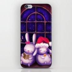 Chubby bunnies at christmas night iPhone & iPod Skin
