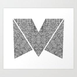 M zigzag Art Print