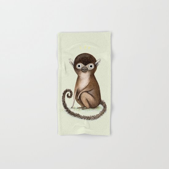 Squirrel Monkey Hand & Bath Towel