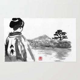 geisha's watching Rug