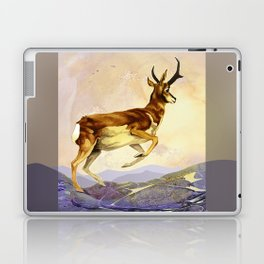 Pronghorn in the Morning Laptop & iPad Skin