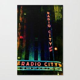 Radio City Grunge Canvas Print
