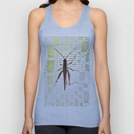 Grasshopper in lace curtain Unisex Tank Top