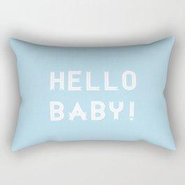 Hello Baby! {blue} Rectangular Pillow