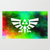triforce Area & Throw Rugs featuring Colourful Triforce by Rebekhaart