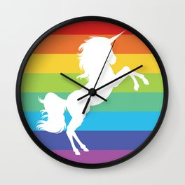 Rainbow Unicorn Flag Wall Clock