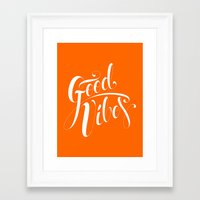good vibes Framed Art Prints featuring Good Vibes by Roberlan Borges