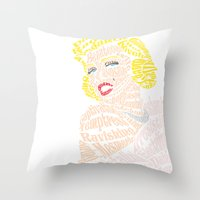 verse Throw Pillows featuring Marilyn Verse by Kaitlyn Brown