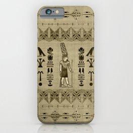 Egyptian Amun Ra - Amun Re Ornament iPhone Case