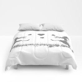 Zombies in Love Gray Comforters