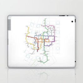 Minneapolis Skyway Map Laptop & iPad Skin