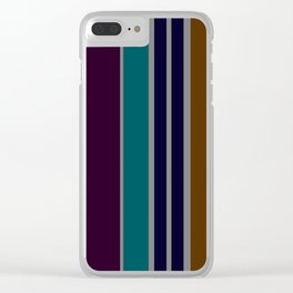 Autumnal Color Themes Clear iPhone Case