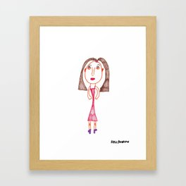 Rose's High Ponytailed Lady Framed Art Print