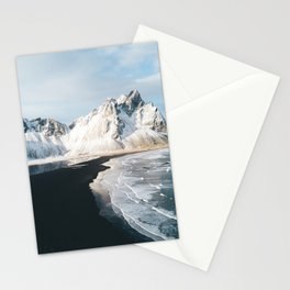 Iceland Mountain Beach - Landscape Photography Stationery Cards