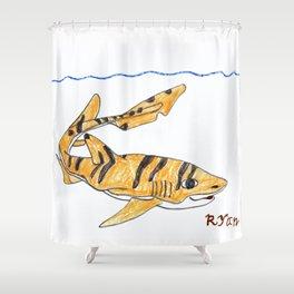 Tiger Cat Shark Shower Curtain