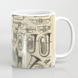 String Instruments Vintage Scientific Illustration French Language Encyclopedia Lithographs Educatio Coffee Mug