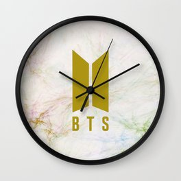 Marble bts gold Wall Clock