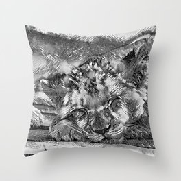 AnimalArtBW_Lion_20170612_by_JAMColorsSpecial Throw Pillow
