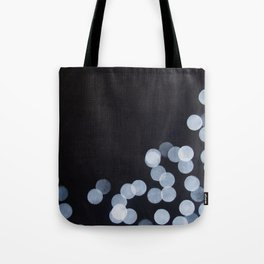 No. 44 - Print of Bokeh Inspired Black and White Modern Abstract Painting Tote Bag