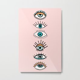 eye illustration print Metal Print