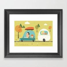 Sur la route des vacances  Framed Art Print