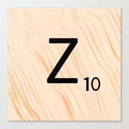 Scrabble Letter Z - Scrabble Art and Apparel Canvas Print