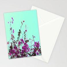 Vibrant Violet Blooms Stationery Cards