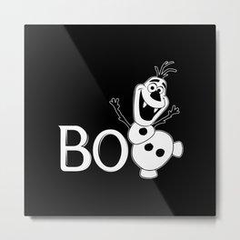 BOO - It's a Snowman! - HALLOWEEN Metal Print
