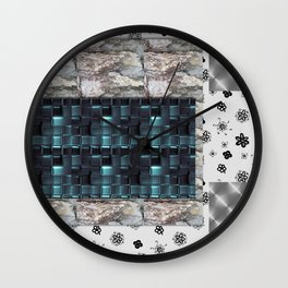 textures for the interior grey Wall Clock