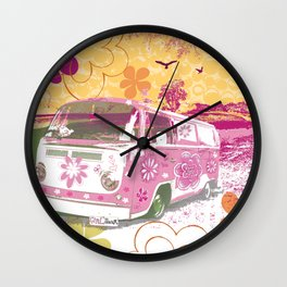 girl camper Wall Clock