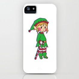Christmas elf pole Help Children Gift iPhone Case