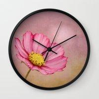 blossom Wall Clocks featuring blossom by Iris Lehnhardt