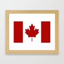 Canadian Flag Framed Art Print
