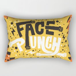 FACE PUNCH Rectangular Pillow