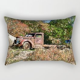Old Trucker's Ride - Big Rig Truck Rectangular Pillow