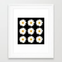 daisy Framed Art Prints featuring Daisy by nessieness