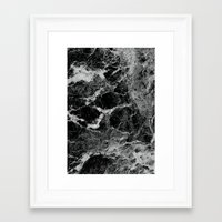 marble Framed Art Prints featuring Marble by Three of the Possessed