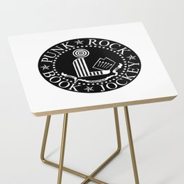 Punk Rock Book Jockey Black Logo Side Table