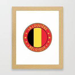 La Louviere, Belgique Framed Art Print